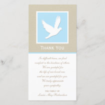 Dove Sympathy Thank You Photo Card