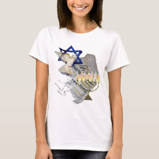 Dove, Tallit & Menorah B T-Shirt