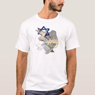 Dove, Tallit & Menorah B T-Shirt