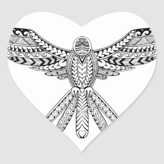 Dove Tribal Tattoo Heart Sticker