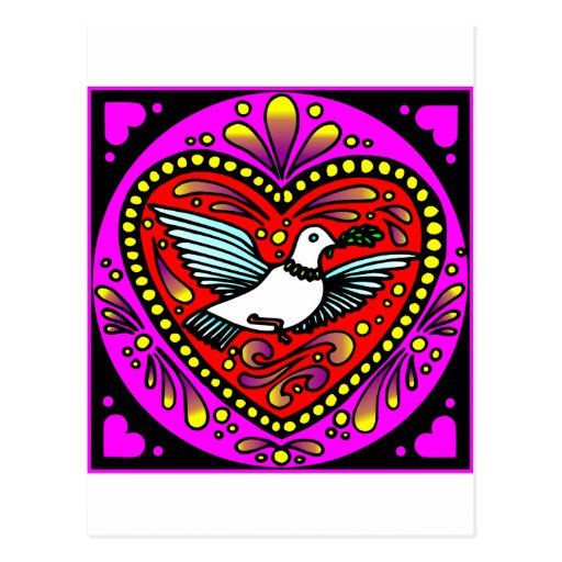 Dove w/ Heart Postcard