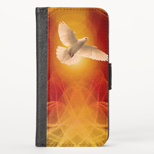 Dove Wave Particles iPhone XS Wallet Case