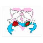 Dove Wedding Decoration Postcard