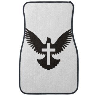 Dove with Cross Car Mat
