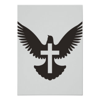 Dove with Cross Card