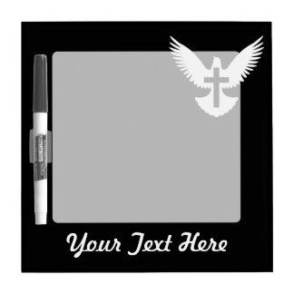 Dove with Cross Dry-Erase Board