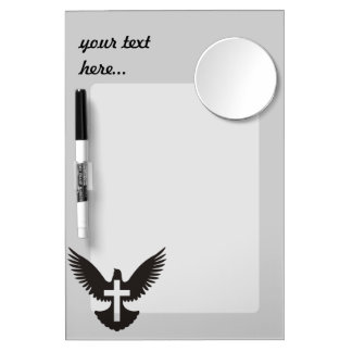 Dove with Cross Dry Erase Board With Mirror
