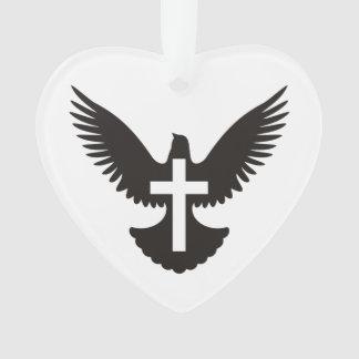 Dove with Cross Ornament