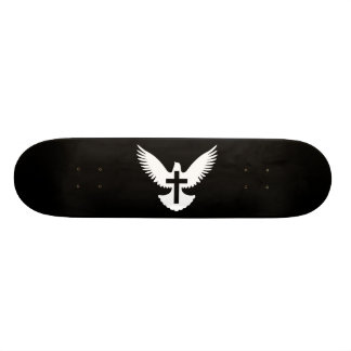 Dove with Cross Skateboard Deck