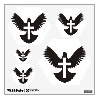 Dove with Cross Wall Decal