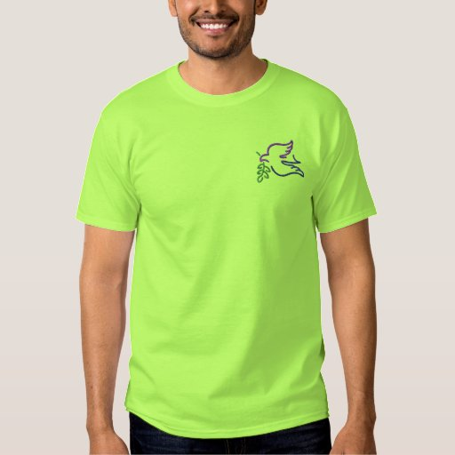 Dove with Fig Outline Embroidered T-Shirt