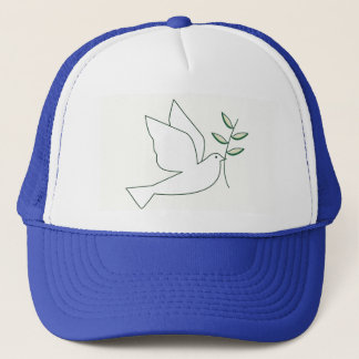 Dove with Olive Branch Trucker Hat