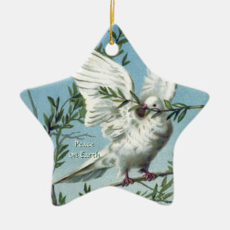 Dove with Olive Branches - Star Ornament