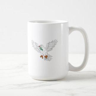 Dove With Olive Leaf Drawing Coffee Mug