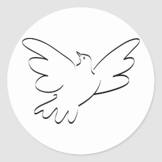 Dove with Outstretched Wings Stickers