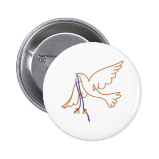 Dove with Rings 2 Inch Round Button