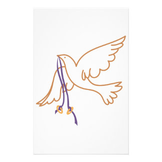 Dove with Rings Stationery