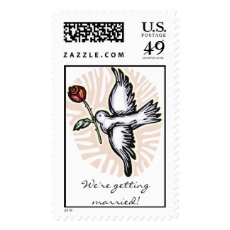 Dove with Rose Stamps