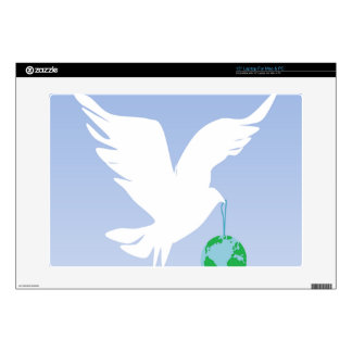 Dove & World Laptop Decal