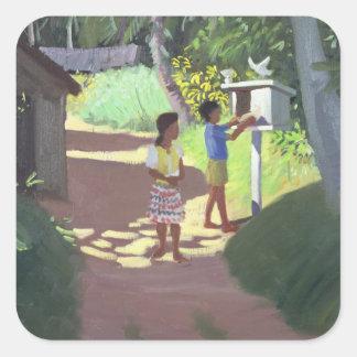 Dovecote Bentota Sri Lanka 1998 Square Sticker