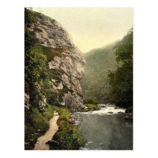 Dovedale, roca del león, Derbyshire, Inglaterra P  Postales