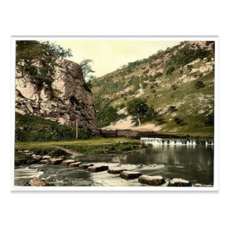 Dovedale, stepping stones, Derbyshire, England cla Postcard