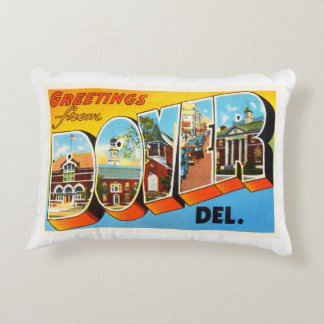 Dover Delaware DE Old Vintage Travel Postcard- Accent Pillow