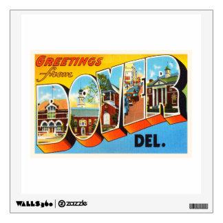 Dover Delaware DE Old Vintage Travel Postcard- Wall Sticker