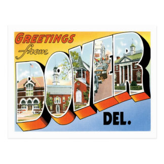 Dover Delaware Travel America US City Postcard