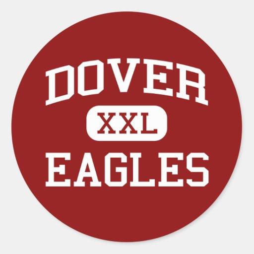 Dover - Eagles - área - Dover Pennsylvania Pegatina Redonda