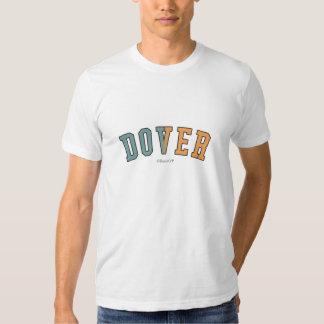 Dover en colores de la bandera del estado de remera
