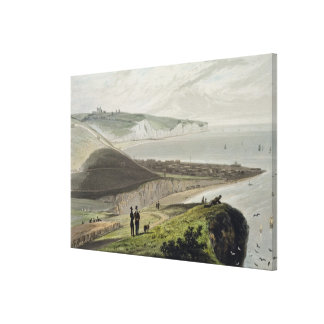 Dover, from Shakespeare's Cliff, from 'A Voyage Ar Canvas Print