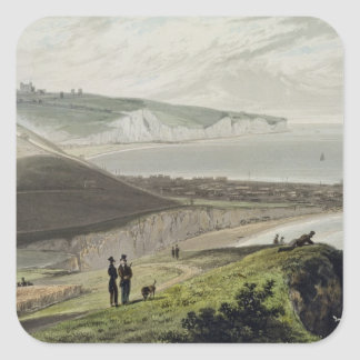 Dover, from Shakespeare's Cliff, from 'A Voyage Ar Square Sticker