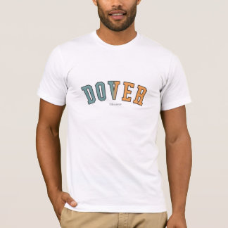 Dover in Delaware state flag colors T-Shirt