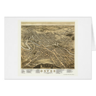 Dover, NH Panoramic Map - 1877 Greeting Card