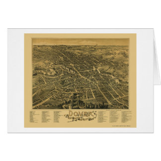 Dover, NH Panoramic Map - 1888 Greeting Card