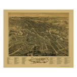 Dover, NH Panoramic Map - 1888 Poster