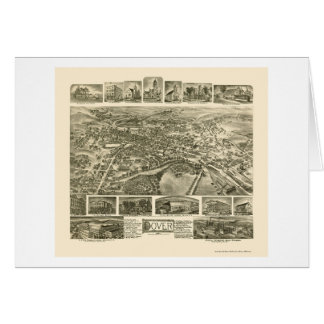 Dover, NJ Panoramic Map - 1903 Greeting Card