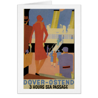 Dover-Ostend - 3 Hour Sea Passage - Vintage Greeting Card