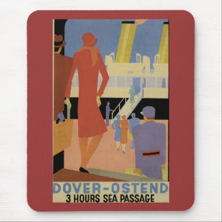 Dover-Ostend - 3 Hour Sea Passage - Vintage Mouse Pad