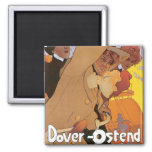 Dover-Ostend Line 2 Inch Square Magnet