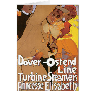 Dover-Ostend Line Greeting Card