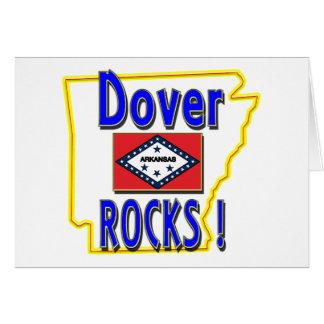 Dover Rocks ! (blue) Greeting Card