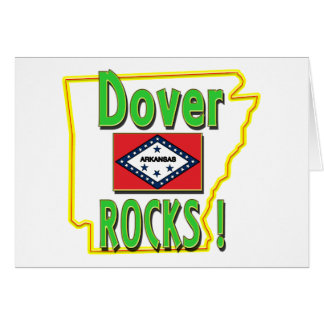Dover Rocks ! (green) Greeting Card