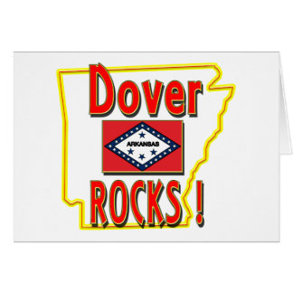 Dover Rocks ! (red) Greeting Card