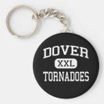Dover - tornados - High School secundaria de Dover Llavero Redondo Tipo Pin