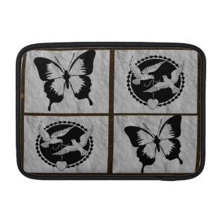 Doves and Butterflies on  Brushed Metal Sleeve For MacBook Air