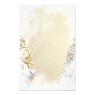 Doves and Christmas Tree Stationery