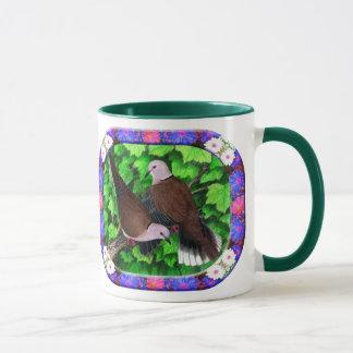 Doves and Flowers Framed Mug