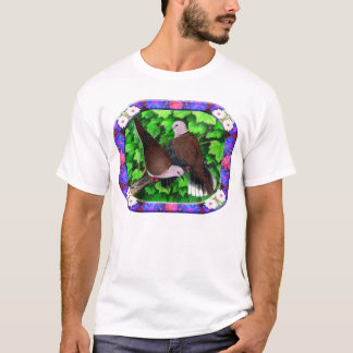 Doves and Flowers Framed T-Shirt